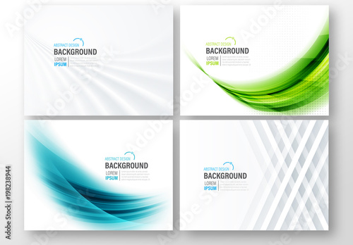 4 abstract background presentation layouts buy this stock template