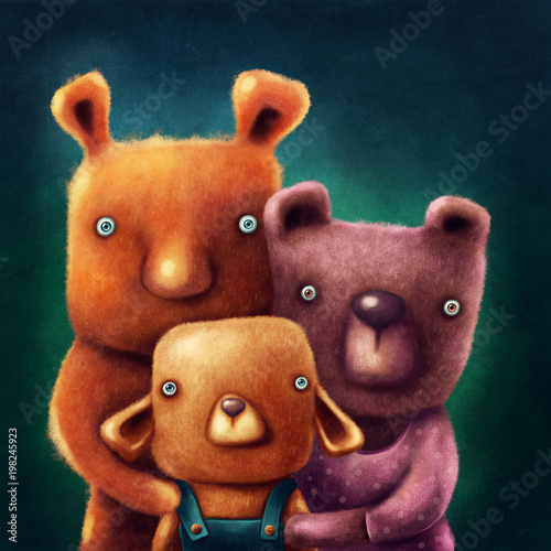 Fotografie, Tablou  Three bears