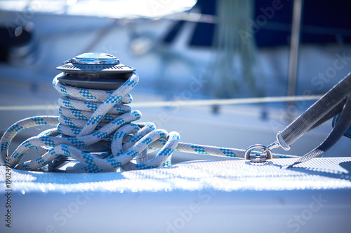 rope on a yacht