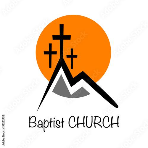 Vector Logo Baptist Church Buy This Stock Vector And Explore