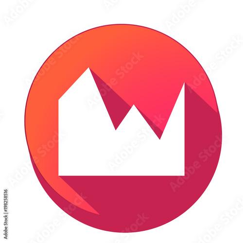Fotografie, Obraz  ikona z długim cieniem na tle okręgu