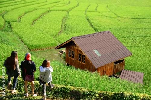 In de dag Lime groen teenage girls tourism, travel, leisure, holidays asia thailand.