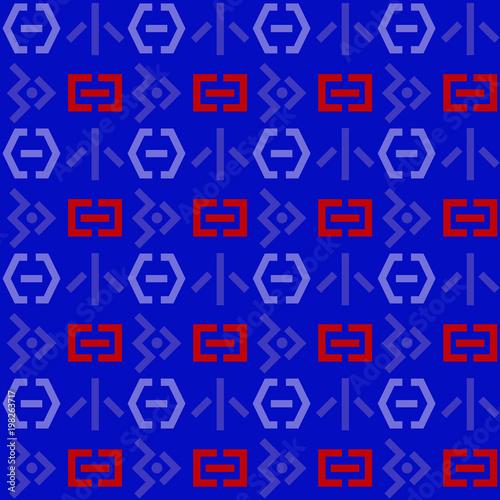 Fényképezés  Space invaders seamless pattern