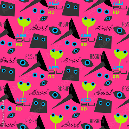 Photo Absurd concept seamless pattern