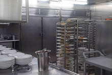 Kitchen Galley Of A Cruise Ship