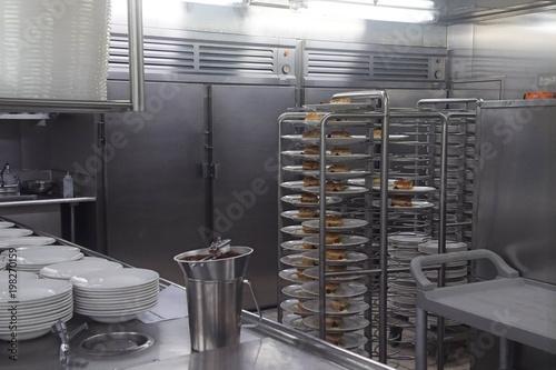 Kitchen galley of a cruise ship Fototapeta