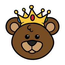 Cartoon King Bear