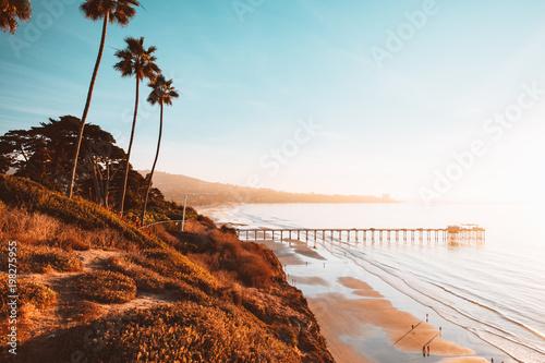 Tropical beach Massive Beach Scene at Sunset