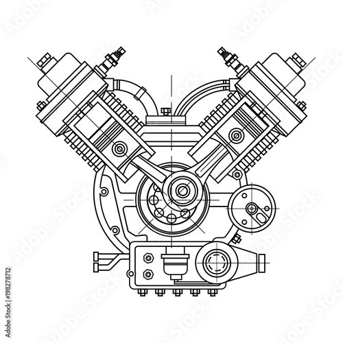 An internal combustion motor Fototapeta