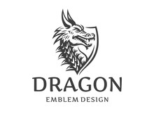 Vector Head Of A Dragon In The...