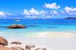 Exotic beach, Praslin Island, Seychelles