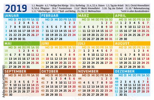 Fotografie, Obraz  Taschenkalender 2019