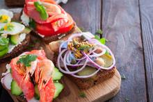 Danish Open Sandwich Smorrebro...
