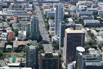 Beautiful modern buildings of Bangkok cityscape