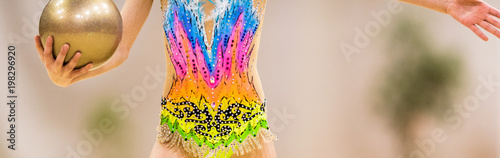 Spoed Foto op Canvas Gymnastiek Rhythmic gymnastics competition