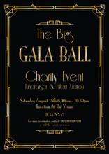 Big Gala Ball Art Deco Backgro...