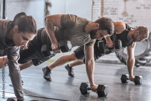 Poster Fitness People at Crossfit Training