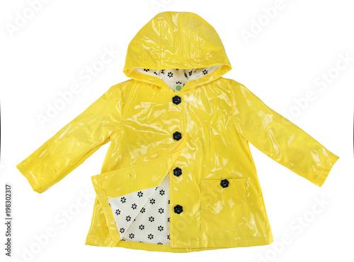 Fotografía  elegance rain jacket yellow for girl