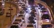 Causeway Bay, Hong Kong 23 March 2018:- Hong Kong traffic congestion at night