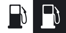 Vector Gas Station Icon. Two-t...