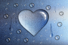 A Drop Of Water In The Shape O...
