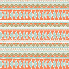 Pastel Mint And Coral Geometri...