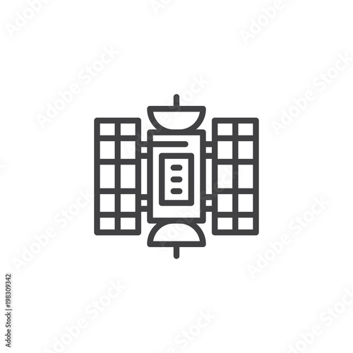 Fototapeta Hubble space telescope outline icon
