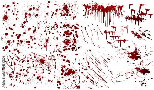 Fotografie, Obraz  Blood background,ink splatter background, isolated on white.
