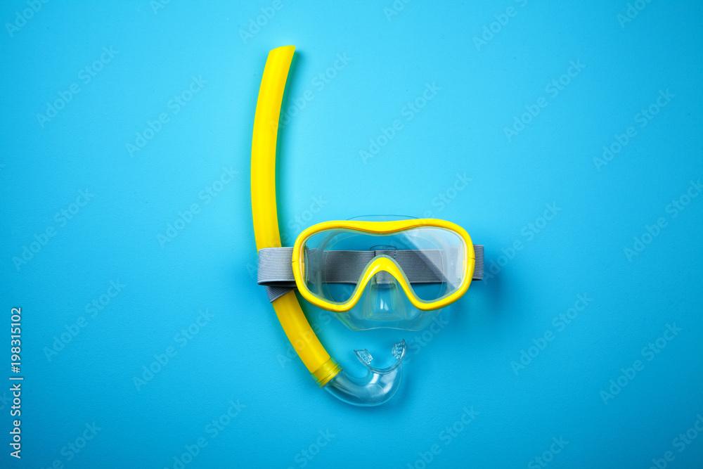 Fototapeta Snorkeling mask and tube