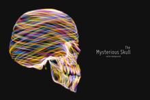 Vector Colorful Skull Construc...