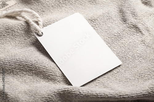 Fotografia  Cloth label tag blank mockup