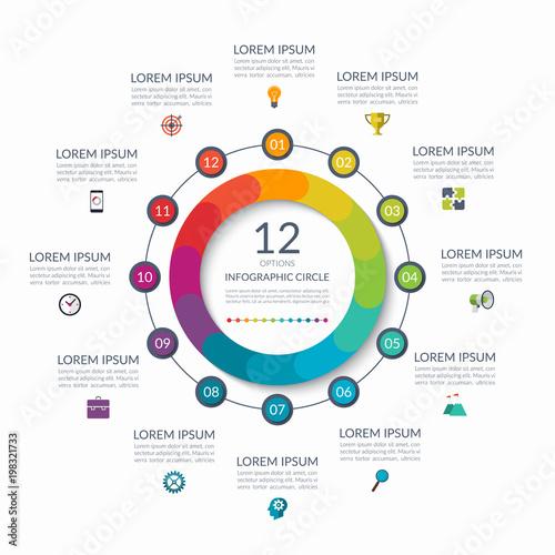Papel de parede  Infographic circle