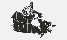 Map Of The Canada With Provinc...