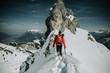 canvas print picture - Skitour Mann Freiheit Gipfel