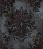 Vector damask pattern element. Classical luxury old fashioned ornament grunge background. Royal Victorian texture for wallpapers, textile, fabric, wrapping. Exquisite floral baroque templates - 198329998