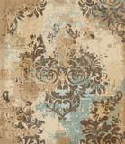 Vector damask pattern element. Classical luxury old fashioned ornament grunge background. Royal Victorian texture for wallpapers, textile, fabric, wrapping. Exquisite floral baroque templates - 198330303