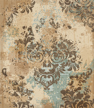 Vector Damask Pattern Element....