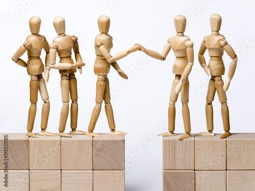 Fényképezés Begrüßung, Parteien, Friedensvertrag
