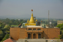 Golden Kalash With Saffron Fla...