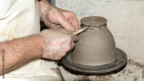 Photograph Of Making Ceramic Vases With Ribbon Tools In 16 9 Photo