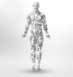 Abstract Molecule based human figure concept - Illustration of a human body made of dots and lines