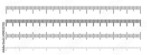 Obraz na plátně Ruler scale measure or vector length measurement scale chart