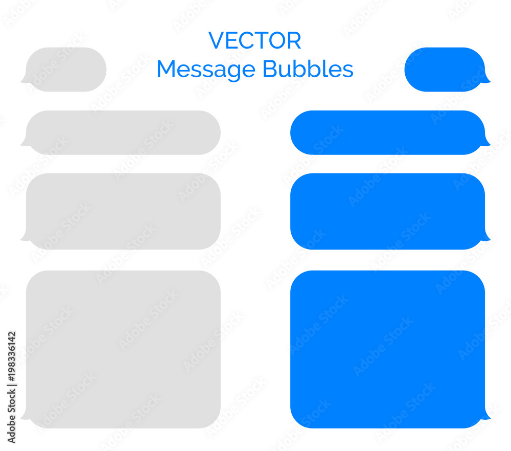 Fototapeta Message bubbles vector icons for chat. Vector message bubbles design template for messenger chat