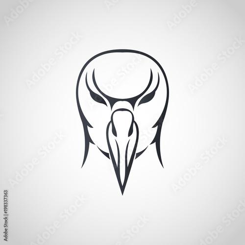 Fényképezés  Albatross logo icon design, vector illustration