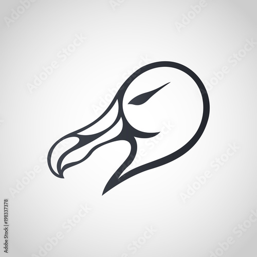 Albatross logo icon design, vector illustration Tablou Canvas