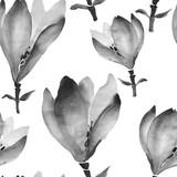 Akwarela kwiaty ręcznie rysunek wzór z chińskim ar - 198345568
