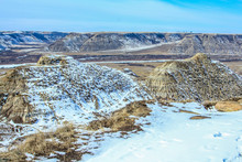 Horse Thief Canyon In Late Spring, Canadian Badlands, Drumheller, Alberta, Canada