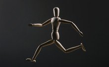 Wooden Figure Manikin Running