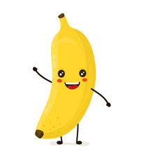 Funny Happy Cute Happy Smiling Banana