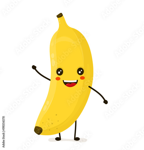 Slika na platnu Funny happy cute happy smiling banana